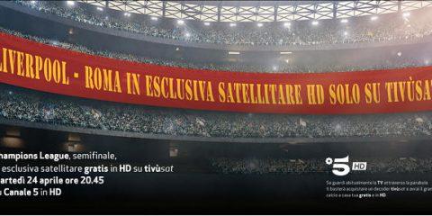 Tivùsat, Liverpool – Roma in esclusiva satellitare su Canale 5 HD