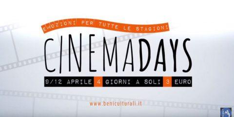 Ritornano i Cinemadays, cinema a 3 euro in tutta Italia dal 9 al 12 aprile