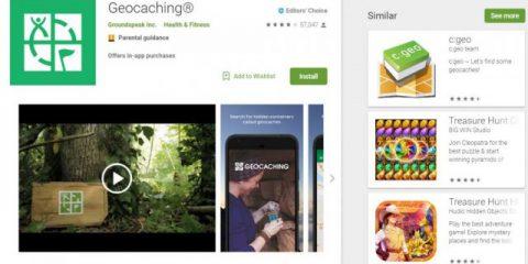 App4Italy. La recensione del giorno, Geocaching