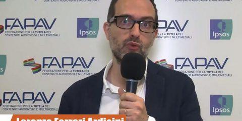 Pirateria audiovisiva in Italia, indagine FAPAV/Ipsos: videointervista a Lorenzo Ferrari Ardicini, Presidente UNIVIDEO