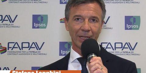 Pirateria audiovisiva in Italia, indagine FAPAV/Ipsos: videointervista a Stefano Longhini, Direttore gestione Enti Collettivi RTI