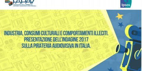 Pirateria audiovisiva in Italia, danni per 617 milioni di euro. Gli ultimi dati dell'indagine FAPAV/IPSOS