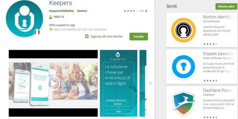 App4Italy. La recensione del giorno, Keepers child safety