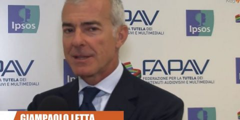 Pirateria audiovisiva in Italia, indagine FAPAV/Ipsos: videointervista a Giampaolo Letta, VP e AD Medusa Film