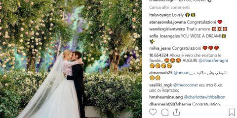 I Ferragnez mandano in palla Instagram e Twitter, tutti i numeri del matrimonio dell'anno