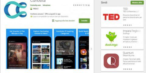 App4Italy. La recensione del giorno, Curiosity