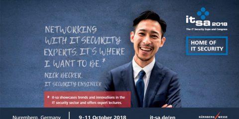 It-sa 2018, dal 9 all'11 ottobre a Norimberga la fiera di it-security più grande d'Europa