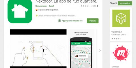 App4Italy. La recensione del giorno, Nextdoor