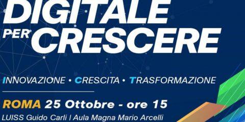 'Digitale per crescere', il 25 ottobre a Roma l'evento organizzato da Anitec-Assinform