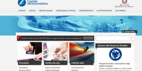 Portale dell'Automobilista, accesso più facile a dati su auto e patenti