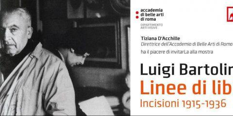 """Accademia Belle arti di Roma, """"Luigi Bartolini. Linee di Libertà. Incisioni 1915-1936"""""""