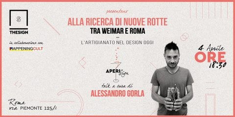 Happening Cult vira sul design, giovedì 4 aprile ospite Alessandro Gorla
