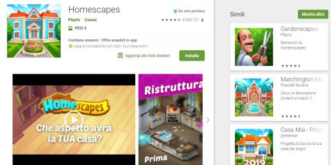 App4Italy. La recensione del giorno, Homescapes