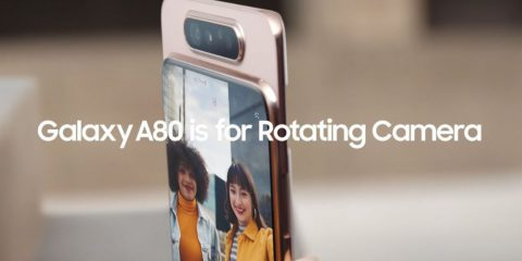 Samsung presenta Galaxy A80: un quasi top full screen e fotocamera che ruota