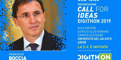 DigithON 2019, il 9 maggio presentazione della Call for Ideas con Francesco Boccia