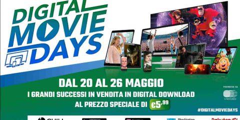 Digital Movie Days 2019: dal 20 al 26 maggio film in vendita a prezzo speciale