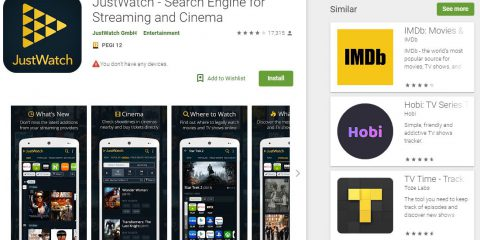 App4Italy. La recensione del giorno, JustWatch – Search Engine for Streaming and Cinema