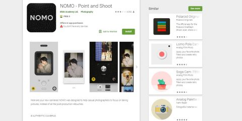 App4Italy. La recensione del giorno, Nomo – Point and shoot