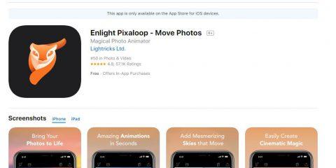 App4Italy. La recensione del giorno, Enlight Pixaloop