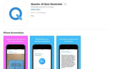 App4Italy. La recensione del giorno, AI quiz generator