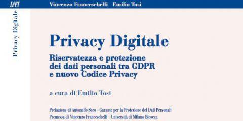 Agenda: 'Persona, riservatezza, protezione dei dati personali e GDPR nella società digitale', Firenze 21 ottobre 2019