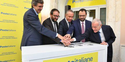 Poste italiane inaugura il nuovo ufficio postale 4.0 nel centro storico dell'Aquila