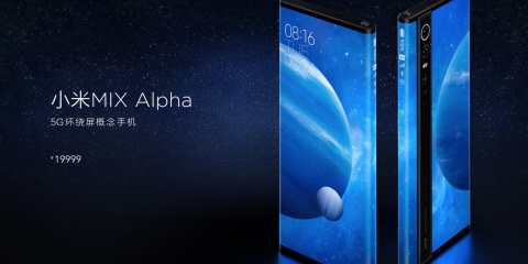 Xiaomi Mi Mix Alpha: smartphone con display a 360 gradi e fotocamera da 108 Megapixel