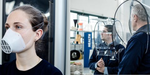 Coronavirus, se non ci sono mascherine e caschi di protezione si stampano in 3D