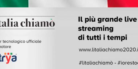 Vetrya partner dell'evento 'L'Italia Chiamò', la maratona online contro il coronavirus