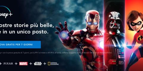 Disney+, debutta oggi (con qualità ridotta) il servizio streaming anti Netflix