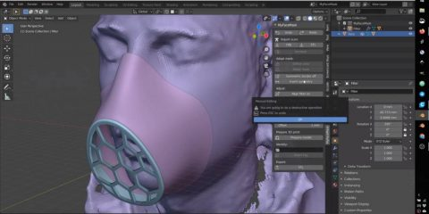 Open source, il software per stampare mascherine su misura in 3D (video tutorial)