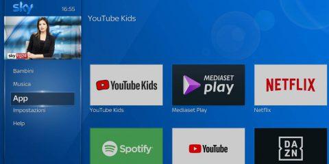 Sky Q, arriva l'app 'YouTube Kids' dedicata ai bambini
