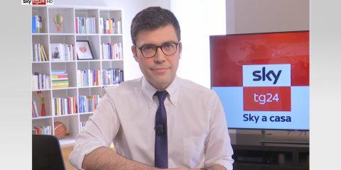 Sky TG24, per la prima volta il telegiornale da casa