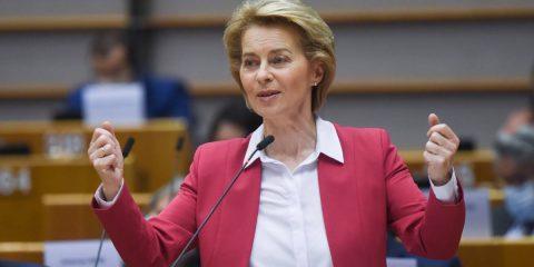 """UE propone piano da 750 miliardi. Von der Leyen: """"Nostro futuro sarà green e digitale"""""""