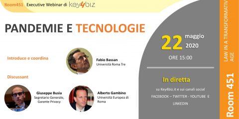 Room 451: Pandemie e tecnologie live il 22 maggio alle 15. Gli Executive Webinar di Key4biz