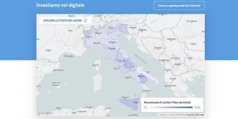 Piano strategico banda ultralarga, online la mappa con i cantieri comune per comune