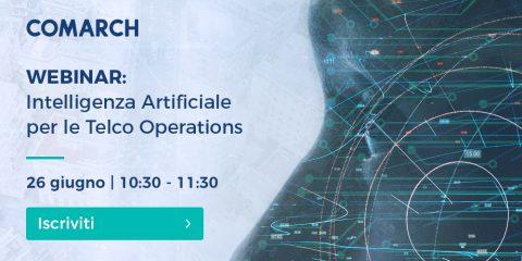 Intelligenza Artificiale per le Telco Operations. Partecipa al webinar il 26 giugno