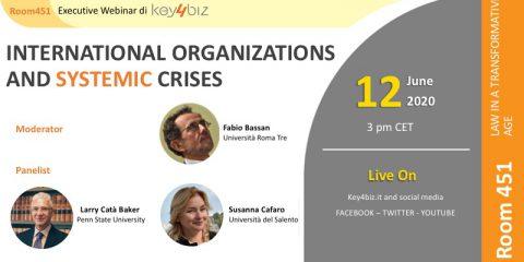 Room 451: 'International Organizations and Systemic Crises', in diretta il 12 giugno alle 15