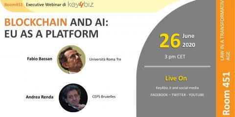 """Room 451: """"Blockchain and AI: EU as a Platform"""", in diretta il 26 giugno alle 15"""