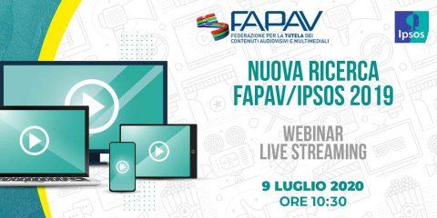 Nuova ricerca FAPAV/Ipsos sulla pirateria audiovisiva, webinar live streaming il 9 luglio