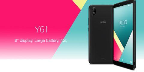 Wiko Y61: smartphone Android Go a meno di 90 euro