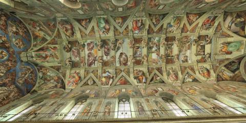 La Cappella Sistina in 3D 360°, con pochi clic gli oltre 500 metri quadrati della volta di Michelangelo