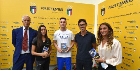 Fastweb main partner del Coni e del Team Italia alle Olimpiadi di Tokyo 2021