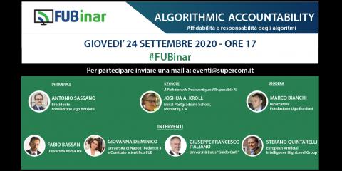 """""""Algorithmic Accountability"""", affidabilità e responsabilità degli algoritmi. Partecipa al nuovo webinar della Fub"""