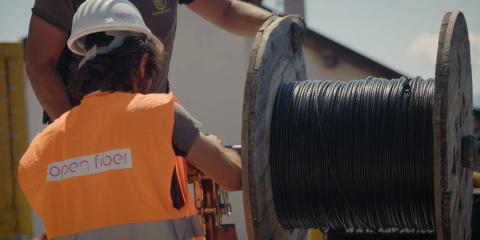 Open Fiber, aperti i cantieri per la fibra in 15mila unità immobiliari a Battipaglia