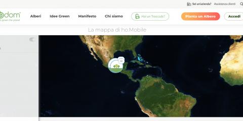 ho.Mobile pianta 1500 alberi in sei Paesi per assorbire la CO2 emessa dal trasporto delle SIM