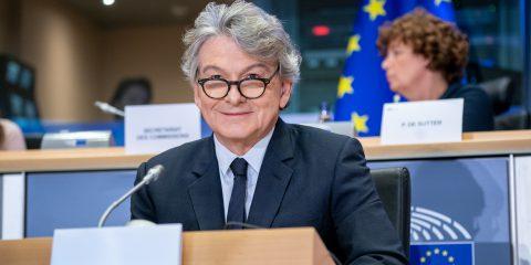 """Big tech, Breton: """"Serve alleanza tra Usa ed Europa per nuove regole"""""""