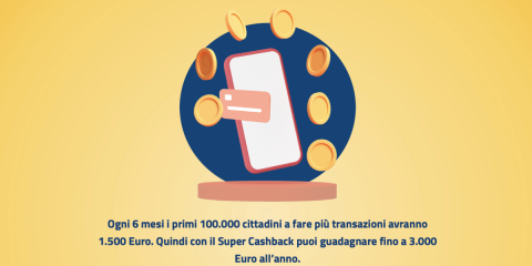 Cashless, come partecipare al Super Cashback per vedersi accreditare sul conto 1.500 euro