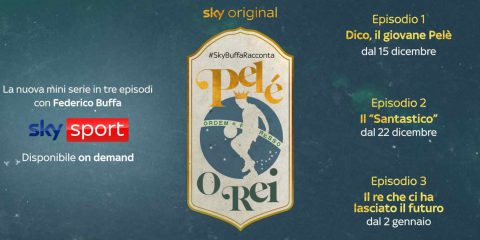 Da domani su Sky nuova miniserie di Federico Buffa dedicata a Pelè