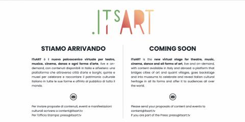 Formalizzato il lancio di 'Italy is Art' (ItsArt). Mediaset in manovra su Rai?